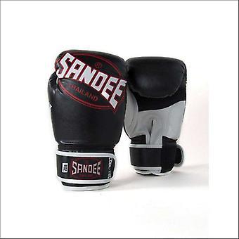 Sandee cool-tec kids muay thai boxing gloves - black