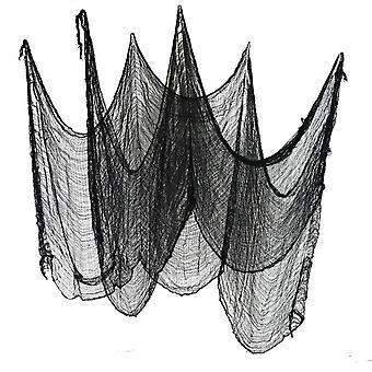 Halloween black creepy cloth haunted house decoration party use net gauze