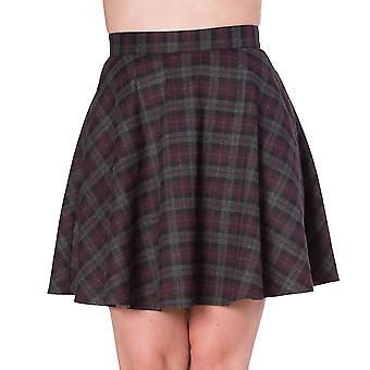 Banned Rock Check Flared Skirt