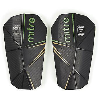 Mitre Delta Slip USA Football Soccer Shinguard Shinpad Black/Green/Yellow