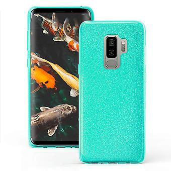 Glitter Case for Samsung Galaxy S9+ / S9 Plus Shiny TPU Rhinestones Bling Green