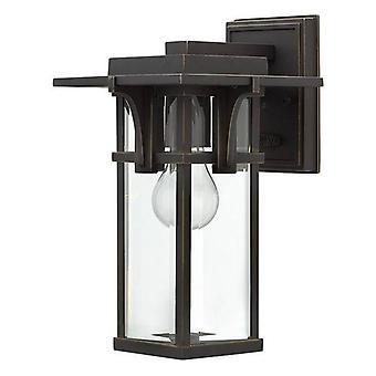 1 Licht Outdoor Kleine Muur Lantaarn Lichtolie Gewreven Brons IP44, E27