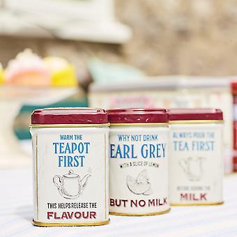 Leitfaden zum Tee trinken Mini-Dosen mit lose-Blatt schwarzen Tee