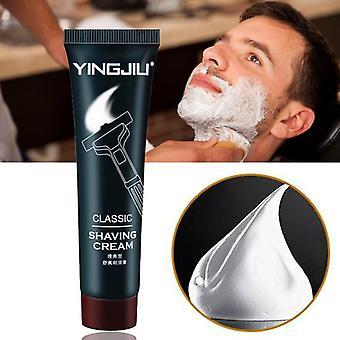 35gm Refreshing Beard Shaving Cream - Milky White Foam Softening Lubricate Reducing Friction