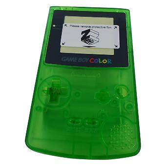 Replacement housing shell case repair kit for nintendo game boy color gbc (colour) - clear green | zedlabz