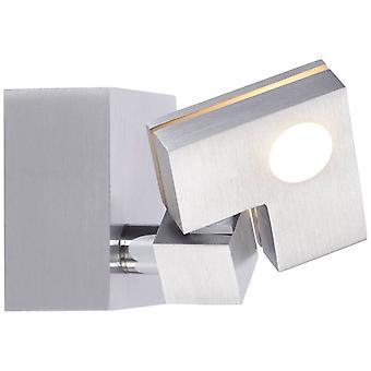 BRILJANT lamp 90 Graden LED muur spot alu   1x 3,6 W LED geïntegreerd (SMD), (380lm, 3000K)   Schaal A++ naar E   Hoofd draaien