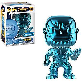 Funko Heroes Marvel Avengers Infinity Krig Thanos Chrome POP! Vinyl Figur