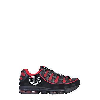 Msgm 2740ms0125f29818 Mænd's Sort/rød Læder Sneakers