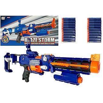 NERF zbraňová puška modrá s 20 pěnovými šipkami