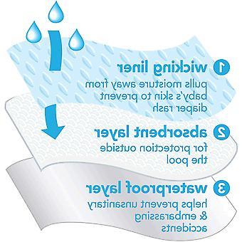 i play. by green sprouts Baby Swim Diaper, Aqua Toucan,, Aqua Toucan, Size 24mo