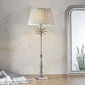 Tafellamp gepolijste nikkelplaat en zilverzijde 1 licht IP20 - E27