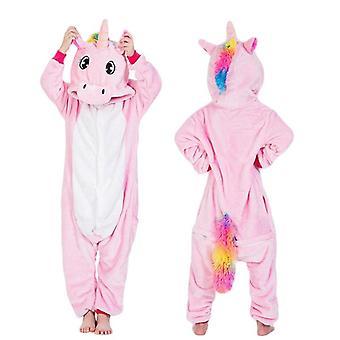 Yksisarvinen pyjama, Stitch Pijamas Puku Eläinten univaatteet Talvella - Lapset,
