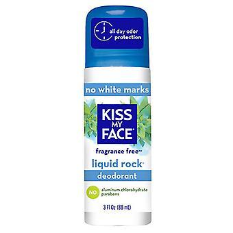 Kiss My Face Liquid Rock Roll-On Deodorant, Fragrance Free 3 OZ EA