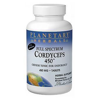 Planetary Herbals Full Spectrum Cordyceps 450, 60 Tabs