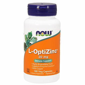 Agora Foods L-OptiZinc, 30 mgs, 100 Caps