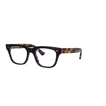 Cutler and Gross 1381 03 Black on Camouflage - Blue Light Lenses Glasses