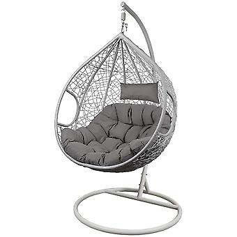 Cocoon rocking chair size XXXL made of technoratan grey white