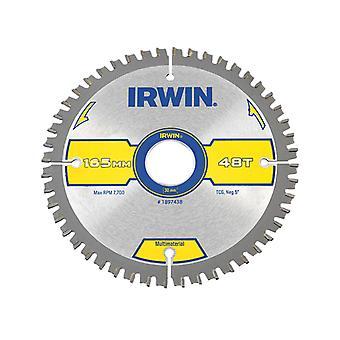 IRWIN Multi Material Circular Saw Blade 165 x 30mm x 48T TCG/Neg IRW1897438