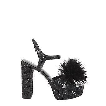Michael By Michael Kors 40r8frha1d001 Women's Black Leather Sandals