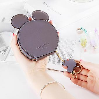 Mickey Mouse Cartoon Design, Coin Bag And Keychain With Pendant