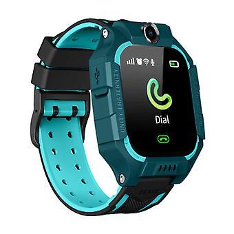 莱姆福 Q19 智能手表为儿童与 GPS 跟踪器智能带智能手机手表 IPS iOS 安卓蓝色