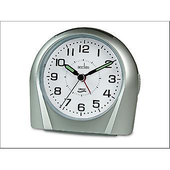 Acctim Europa Silent Tick Alarm Silver 14117
