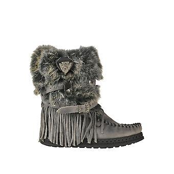 El Vacquero Ezgl585003 Women's Grey Leather Ankle Boots