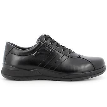 Berny Negro Cuero Hombres&co Zapato con Gore-tex