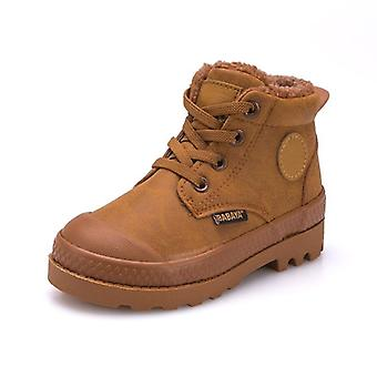 Boys Sneaker Shoes, High Leather Anti-slip Winter Boots