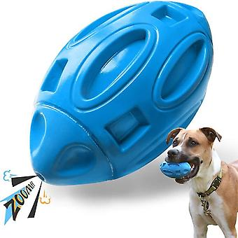 Bite-resistant Sounding Pet Supplies Dog Toys Safety Rubber Sounding Rugby Dog Ball Rubber