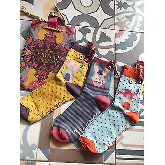 Powder Design Ankle Socks Toadstool Bunny or Owl in Gift Bag