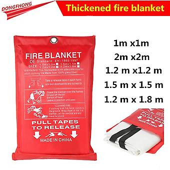 1m X 1m Sealed Fire Blanket Housing Safety Fire Extinguisher Tent Ship