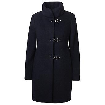 Fay Naw5041y050sjqu809 Women's Blue Wool Coat