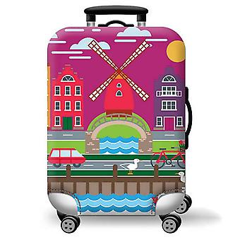 Elastic Printed Luggage Cover Windmill