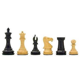 Windsor Series Ebony Staunton Chess Pieces 3 Inches