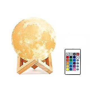 Lámpara de luna recargable 3d impresión Led