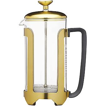 KitchenCraft Le'Xpress Deluxe Brass Cafetire, Stainless Steel/Glass