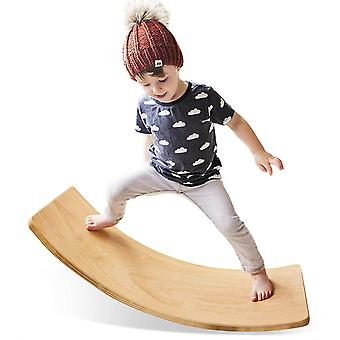 Puinen Wobble Balance Board, esikoulu lelut Kid Yoga Board