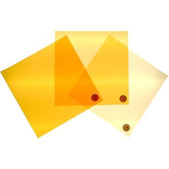 Filterkit cto luz do dia para tungstênio 3 filtros mudam para laranja 204, 205, 206