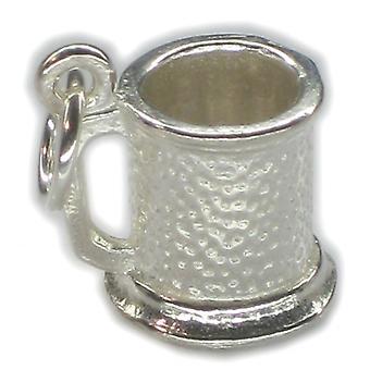 Tankard Sterling Sølv Charm 0,925 X 1 Øl Ale Drinking Charms