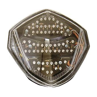 Bike It LED Rear Tail Light With Clear Lens And Integral Indicators - #S050