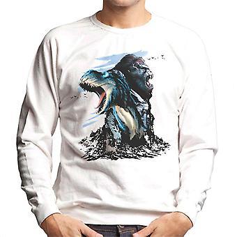 King Kong Vs T Rex Cabezas de Personaje Hombres's Sudadera