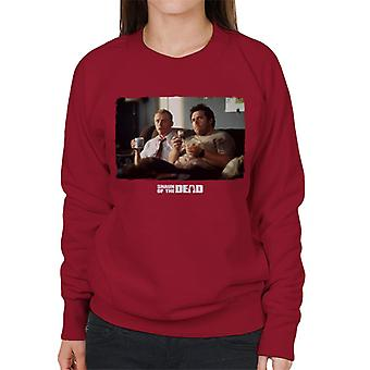 Shaun of the Dead Shaun And Ed Watching TV Women's Sweatshirt