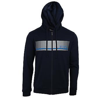 Hugo boss mens navy authentic hooded sweatshirt