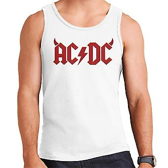 AC/DC Devil Horns Logo Men's Vest