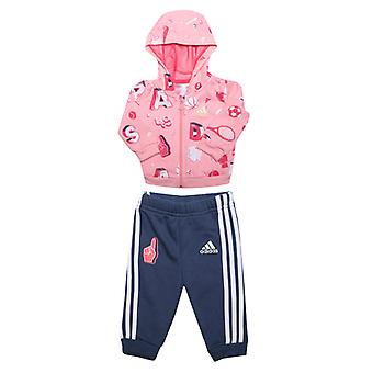 Girl's adidas Infant Graphic Jogger Set in Pink