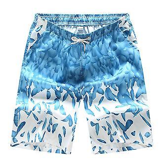 Men's Swim Trunks Beach Shorts, Surf Board Print Summer Sports Pants,