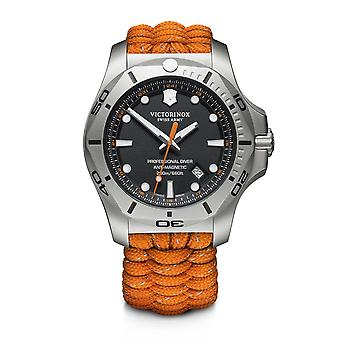 Victorinox Swiss Army 241845 I.n.o.x. Professional Diver Orange Paracord Strap Watch Set