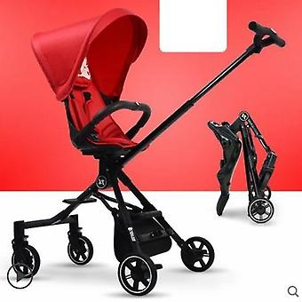 High Landscape Reversible Lightweight Folding Portable Two-way Baby Stroller