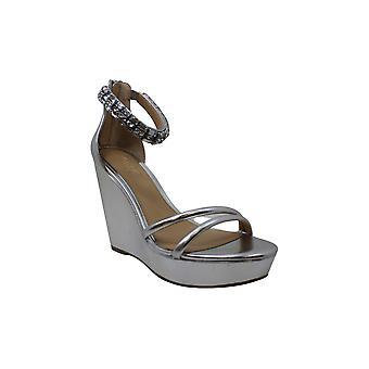 Jewel Badgley Mischka Women's KATHLEEN Sandal, prata/metálico, 8 M US